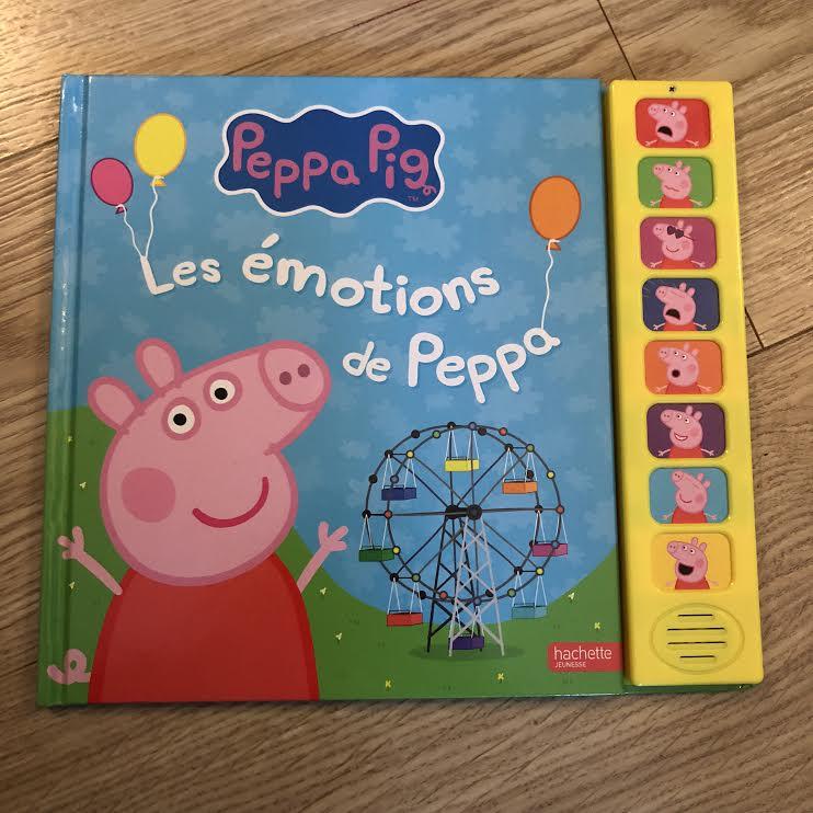 Peppa Pig livre émotions Hachette Jeunesse