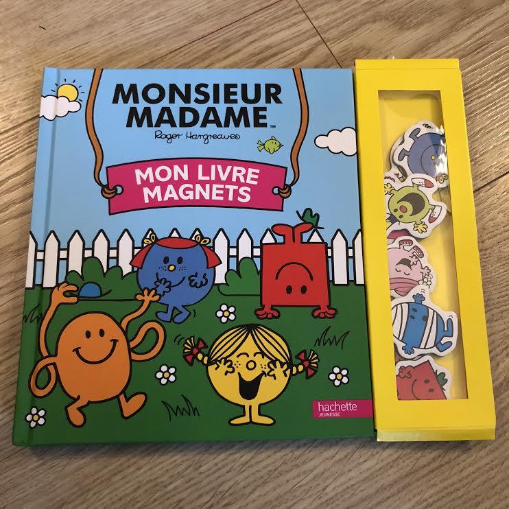 Monsieur Madame livre magnets Hachette jeunesse