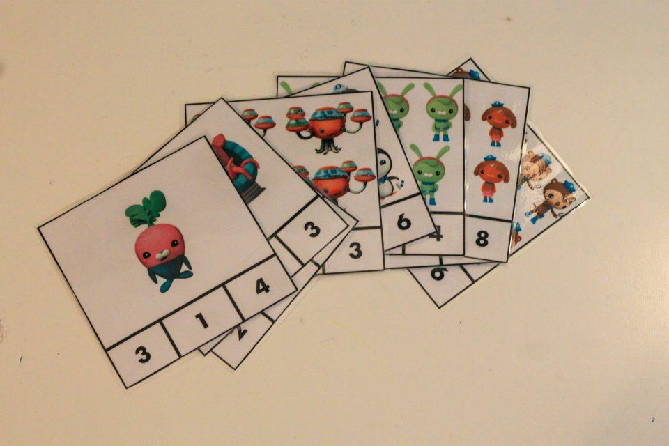 Cartes à compter Octonautes