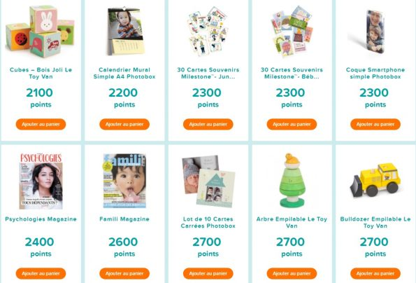 récompenses pampers 2