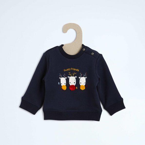 sweat-double-polaire-motif-rennes-et-pompons-marine-bebe-garcon-vb366_1_zc1